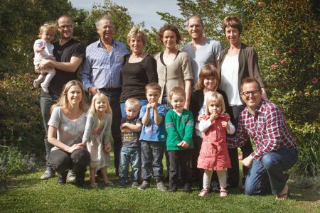 Neal and Judy Ibbotson with their children and grandchildren