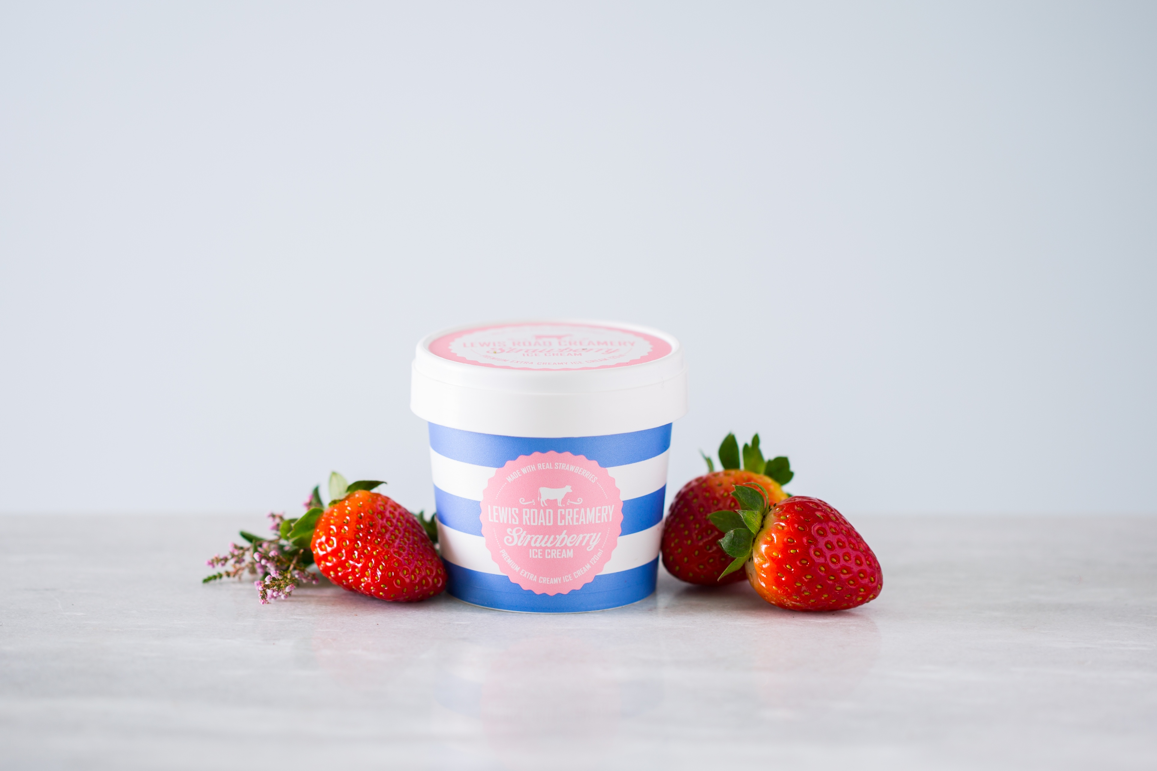 Lewis Road Creamery Premium Strawberry Ice Cream - one day only flavour[1]