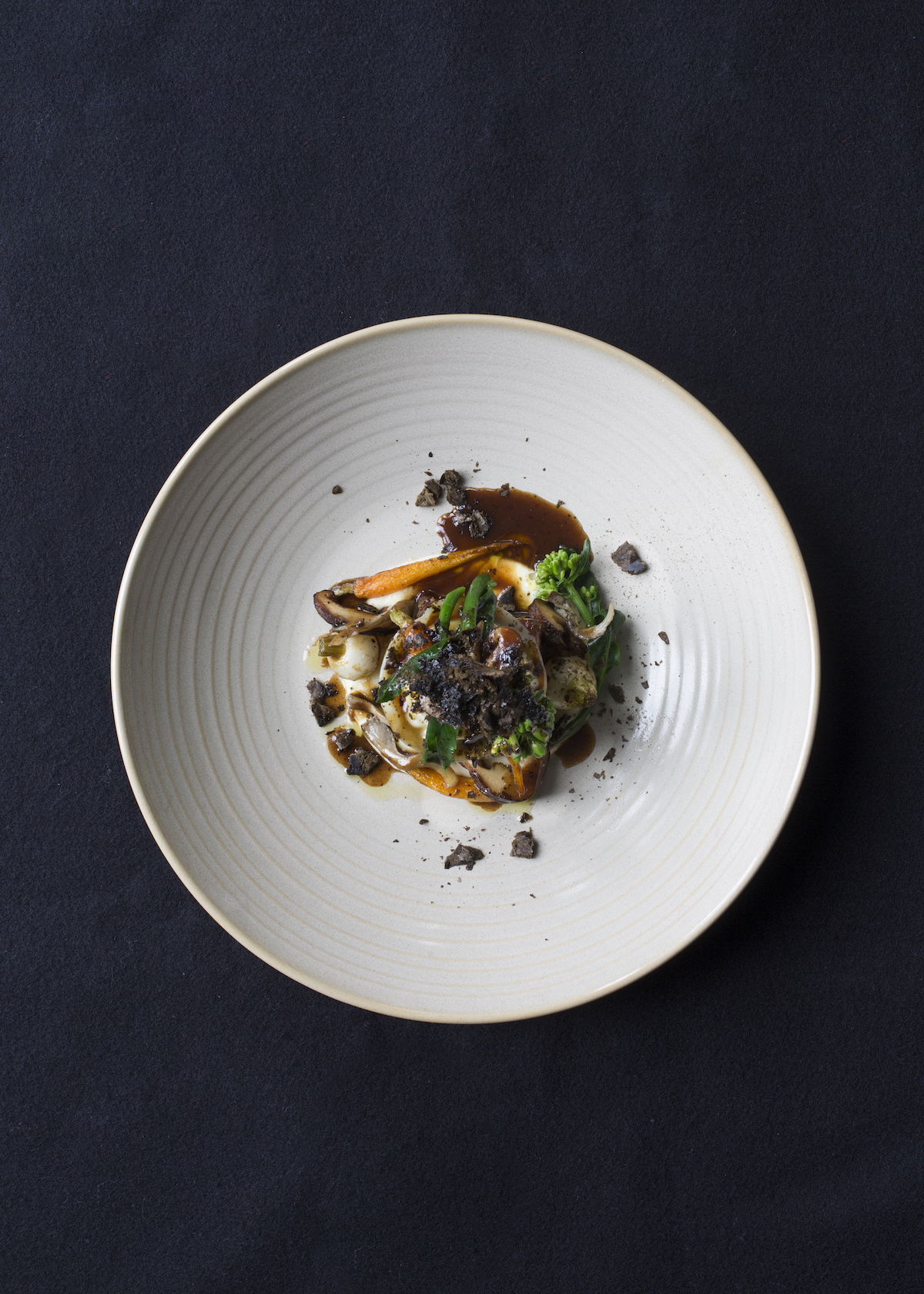 Palate Restaurant dish: Silver Fern Farms short rib, grilled tongue, smoked potato and liquorice.