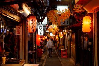 Side-street restaurants in Japan