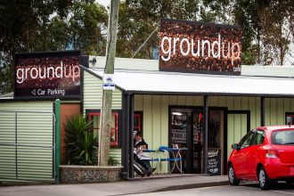 The exterior of the Groundup Cafe