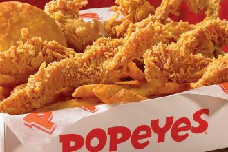 A box of Popeyes chicken
