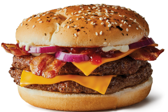 An Angus beef burger from McDonald's