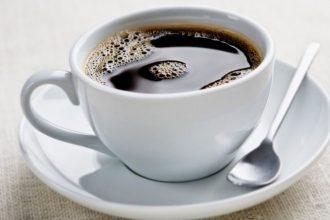 Coffee on a saucer.