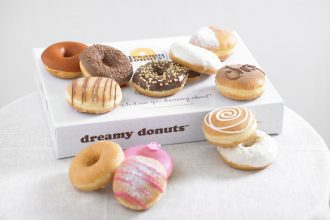 A box of Dreamy Donuts