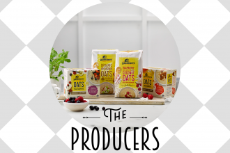 "A variety of Harraways products with text ""The Producers"" at the bottom"