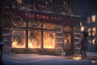Animated film the Time Shop, outside view
